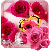 Roses Hearts HD live wallpaper