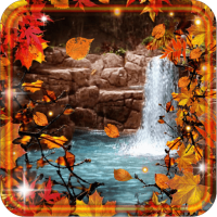 Waterfalls Autumn Love LWP