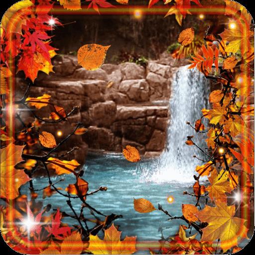Waterfalls Autumn Love LWP