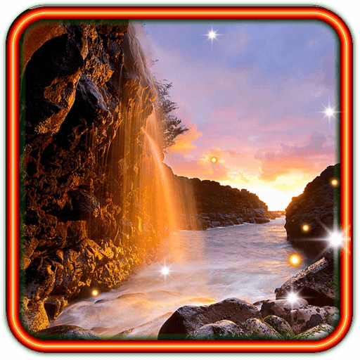 Waterfall Sunset HD LWP