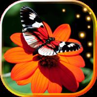 Butterflies n Flowers LWP