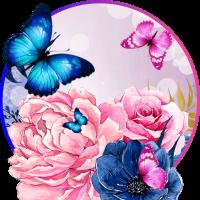 Flowers Butterflies LWP