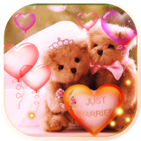 Valentine Bears live wallpaper