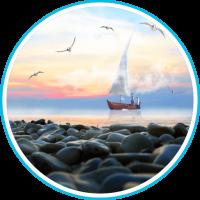 Sea Sunrise live wallpapar