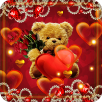 Valentines Teddy live wallpaper