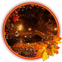 Autumn Twinkle Lights live wallpaper