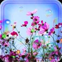 Bubbles n Flowers HD live wallpaper